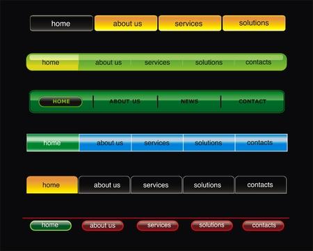 vector web bar met knop Stock Illustratie