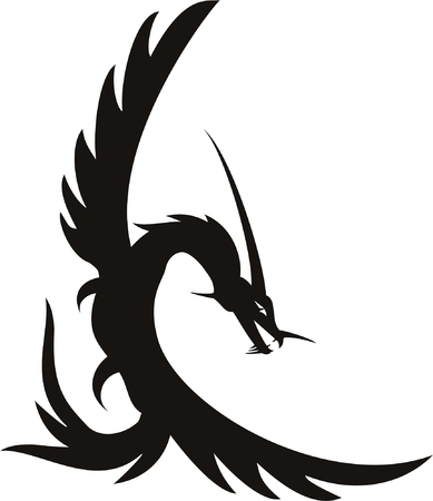 vector dragon tatto