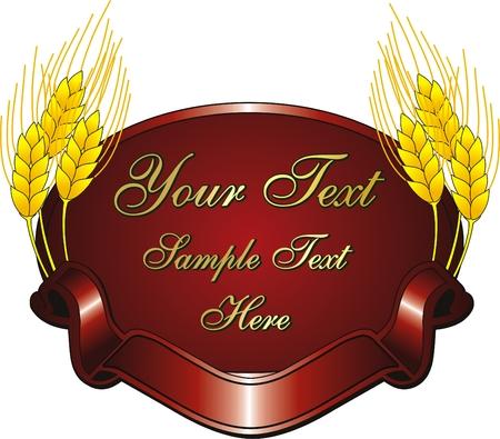 vector rode logo met graan- en span doek