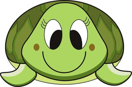 tortoise: vector cartoon of a smile green turtle