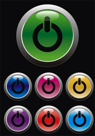 vector start button for web page Vector