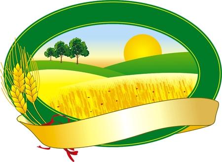 vector afbeelding van een symbool voor teelt