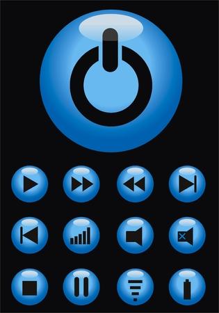 vector web button aqua style Vector