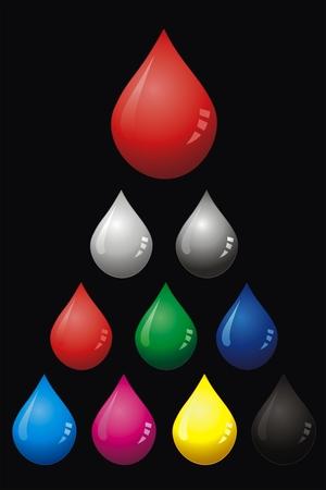 cian: vector drop blood, water and liquid