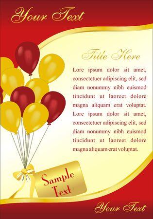 vector verjaardag kaart met ballonnen