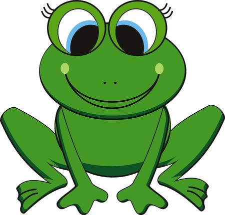 sapo: ilustraci�n vectorial de rana feliz Vectores