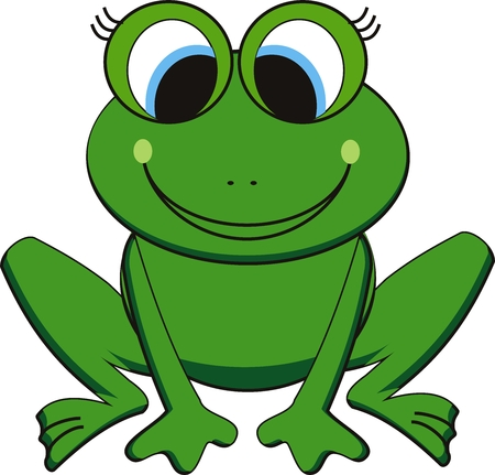 vector illustration of happy frog