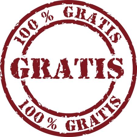 Vector gratis stempel Stock Illustratie