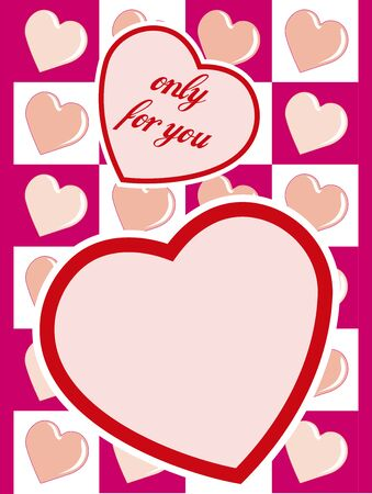 vector valentine day card with hearts Stock Vector - 4290948