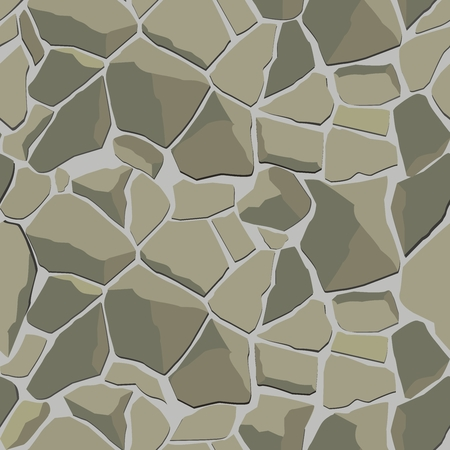 stone wall: vector texture with gray stone wall