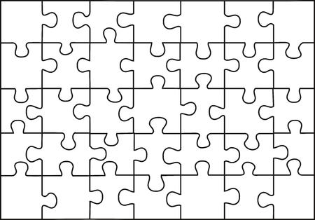 vector transparante puzzel op wilgeteen achtergrond