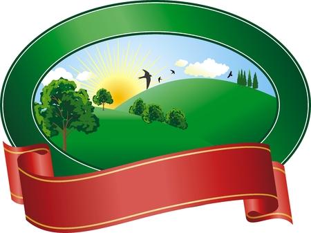 vector afbeelding van een teelt in de zomer dag  Stock Illustratie