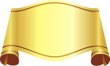 고립 된: gold ribbon over white