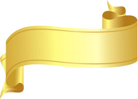 vector ribbons over white. gold color Vector