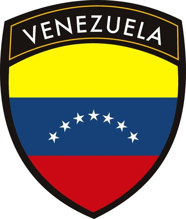 white patches: vector venezuela crest flag on withe background