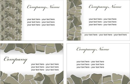 vector visit card with stones walls Vector