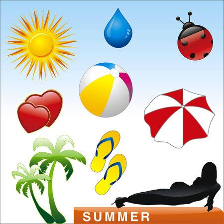 vector summer illustration Vector