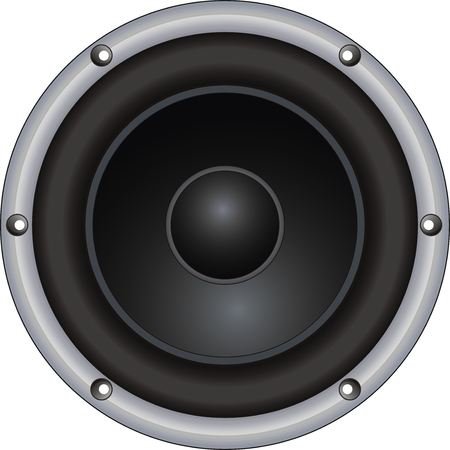 vector woofer on white background. Isolated