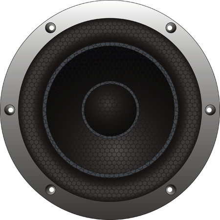 vibrations: vector woofer on white background. Isolated