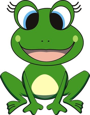 amphibians: vector illustration of happy frog