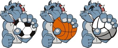 cartoon sport: A Cartoon sport bulldog. Vector