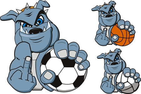 Een cartoon sport bulldog. Vector