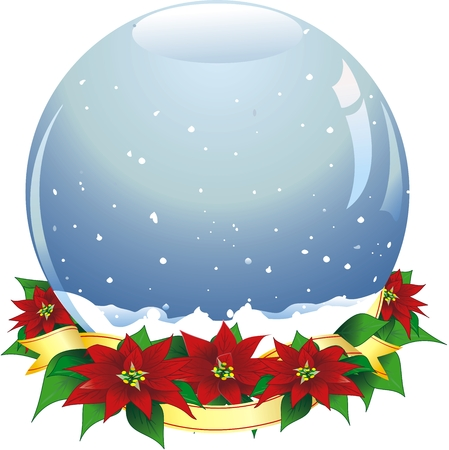 illustration of an empty snow-dome. Vector Vector