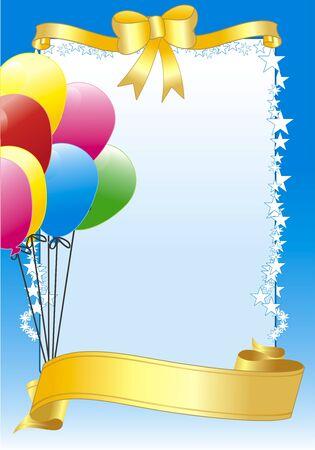 vector illustratie met ballon voor een partij