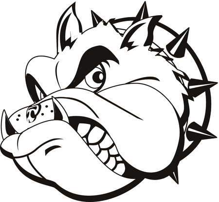 tattoo Bulldog head Vector