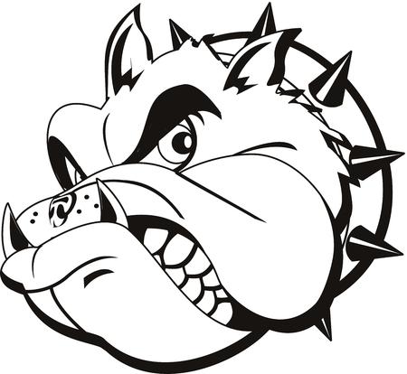 Tattoo Bulldog hoofd  Stock Illustratie