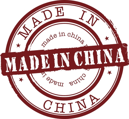 made in china stamp with red ink Vector