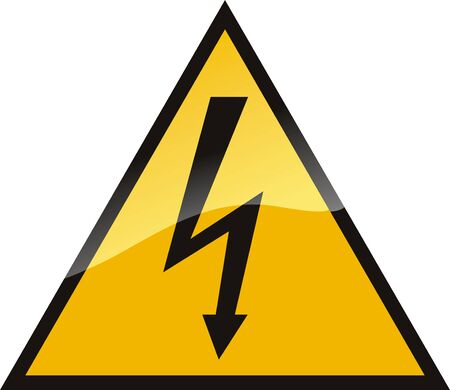 Warning High Voltage design.  Vector