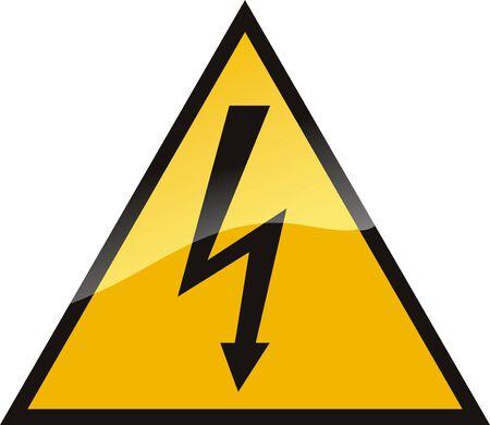spannung: Warnung High Voltage Design.