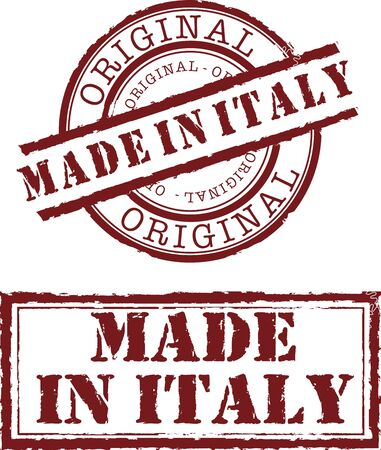 made in italy stamp with red ink