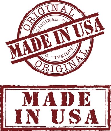 ville usa: en timbre usa avec encre rouge