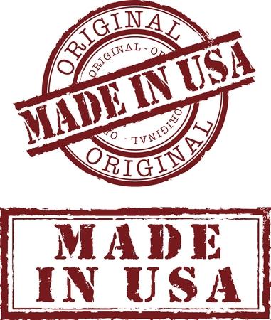 in de Verenigde Staten stempel met rode inkt gemaakt