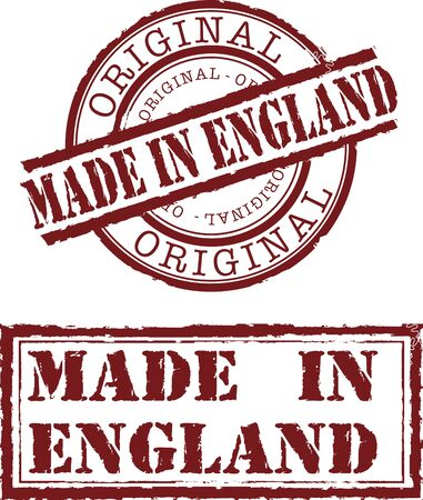 Vector made in England stamp with red ink Vector
