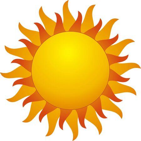 zon geïsoleerd op withe achtergrond