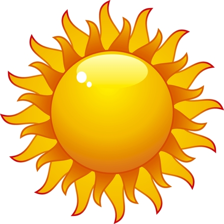 aqua sun isolated on withe background