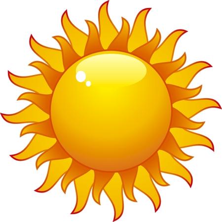 ray light: aqua sun isolated on withe background