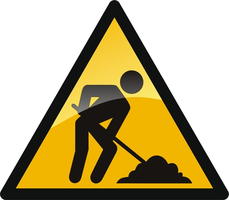 road work: work in progress button