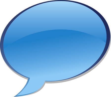 bubble chat icon. Aqua style Illustration