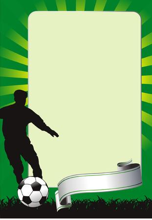 sports bar: soccer banner with balls Illustration