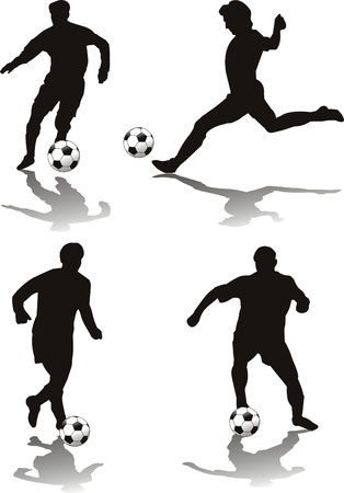 withe: soccer player isolated o withe