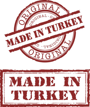gemaakt: gemaakt in Turkije stempel Stock Illustratie