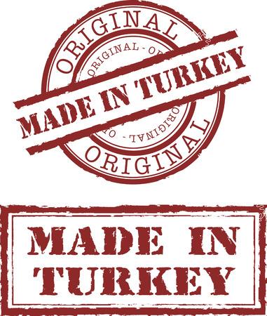 tacchino: Made in Turchia timbro Vettoriali