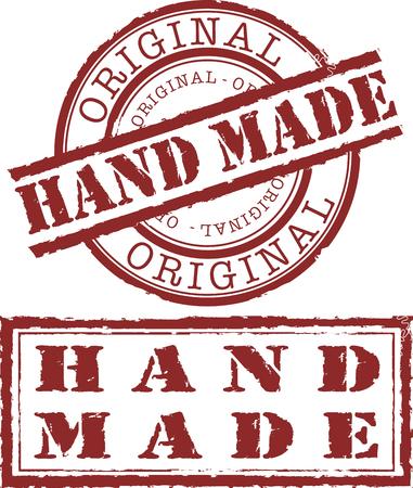 estampa: sello de hecho a mano Vectores
