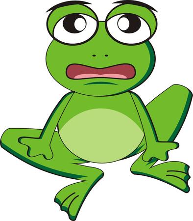 leapfrog: Caricatura de rana