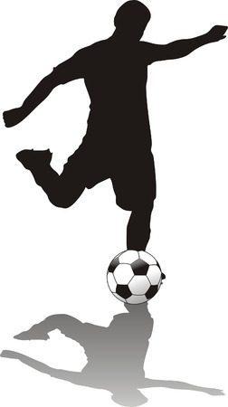 soccer player isolated o withe