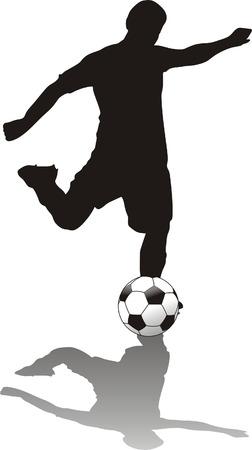 voet bal speler geïsoleerde o knutselen met  Stock Illustratie